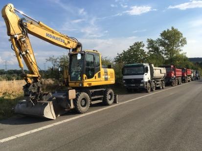 Ostraha stavebních strojů – dálnice D10