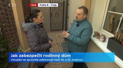 Rozhovor pro Českou televizi: Jak zabezpečit rodinný dům