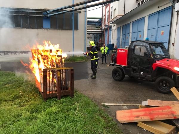 FOTOGALERIE: Cvičení hasičů TOP security