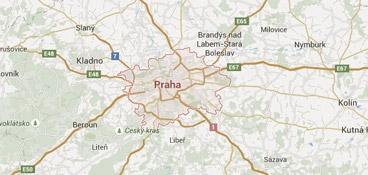 Mapa - pokrytí bezpečnostní agentura Praha