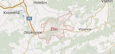 Mapa - pokrytí bezpečnostní agentura Zlín