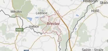 Mapa - pokrytí bezpečnostní agentura Břeclav