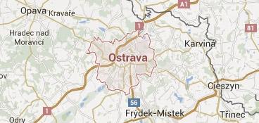 Mapa - pokrytí bezpečnostní agentura Ostrava