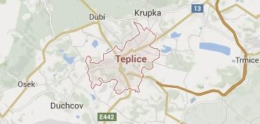 Mapa - pokrytí bezpečnostní agentura Teplice