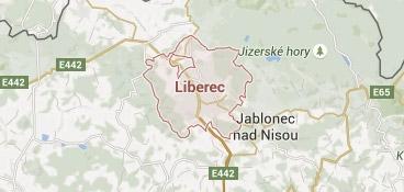 Mapa - pokrytí bezpečnostní agentura Liberec
