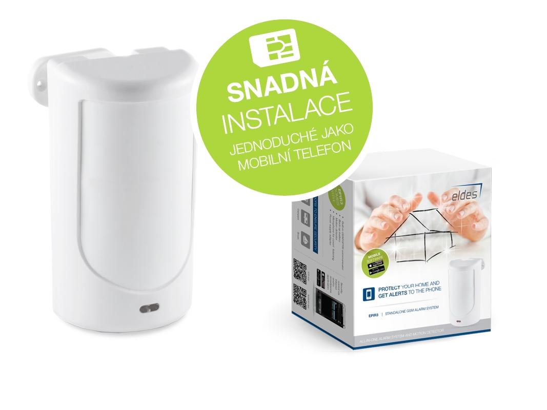 Minialarm EPIR3 pro cenově dostupné a efektivní zabezpečení chaty